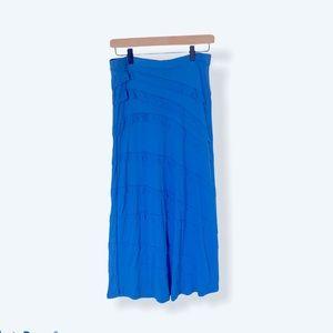 INC Mermaid Blue Petite Maxi Skirt